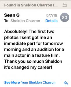 sean actor headshot testimonial photographer sheldon charron