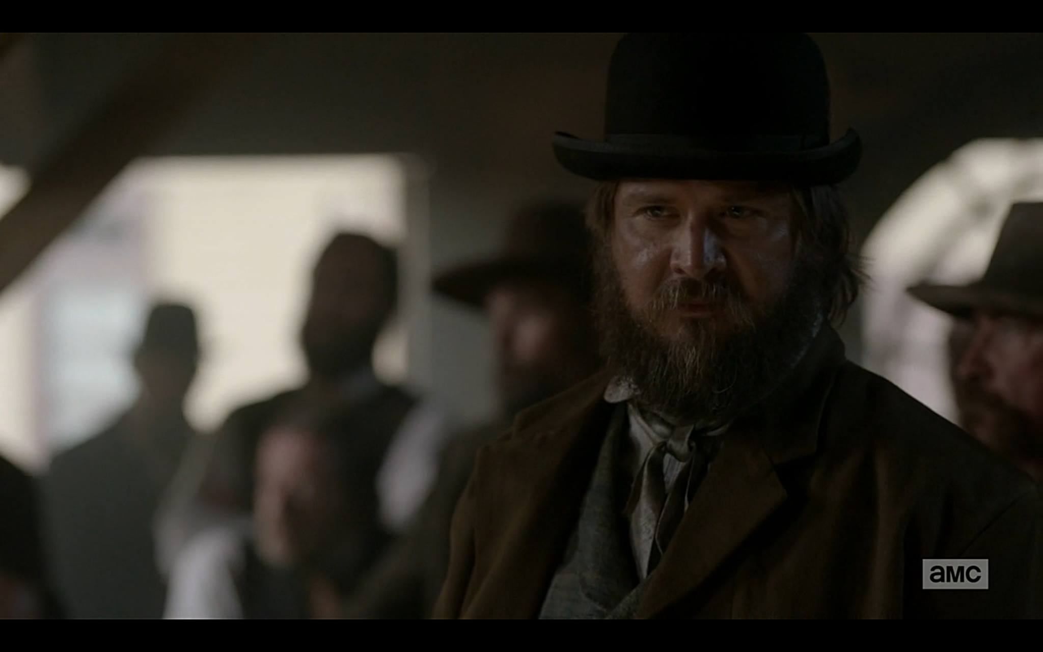 Actor Sheldon Charron as Dead Rabbit in AMC TV show Hell On Wheels